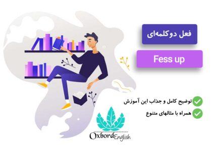 معنی fess up به فارسی
